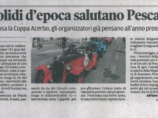 I bolidi d'epoca salutano Pescara